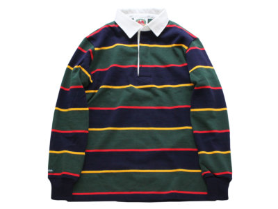 BARBARIAN【バーバリアン】RUGBY SHIRT(L/S) *NVY/GOL/BOT/RED