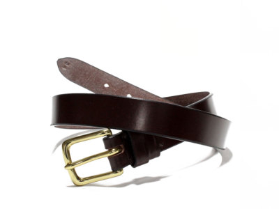 JABEZ CLIFF【ジャベツクリフ】STIRRUP LEATHER BELT 28mm *CHESTNUT