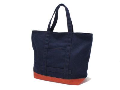 LEATHER COTTAGE【レザーコテージ】CUSTOM CANVAS TOTE BAG *NVY/B.RED