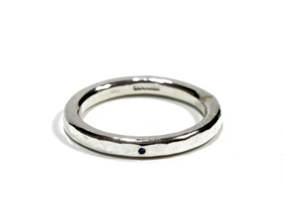 SCOSHA【スコーシャ】SINGLE STONE BAND RING #WR29 *SAPPHIRE
