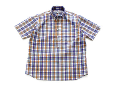 INDIVIDUALIZED SHIRTS【インディビジュアライズドシャツ】POP OVER SHORT SLEEVE SHIRT *WHT/ORN/PUR MULTICHECK