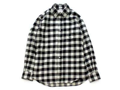 INDIVIDUALIZED SHIRTS【インディビジュアライズドシャツ】B.D SHIRT *BUFFALO CHECK WHT×BLACK / STANDARD FIT
