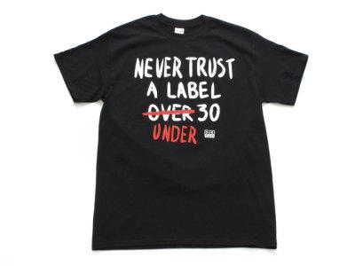 "SUB POP【サブポップ】PRINT TEE ""NEVER TRUST"" *BLACK"