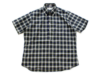 INDIVIDUALIZED SHIRTS【インディビジュアライズドシャツ】POP OVER SHORT SLEEVE SHIRT *NVY/GRN/WHT MULTICHECK