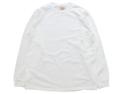 GOODWEAR【グッドウェアー】L/S POCKET TEE *WHITE
