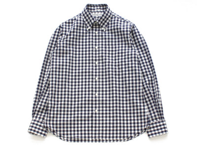INDIVIDUALIZED SHIRTS【インディビジュアライズドシャツ】B.D SHIRT *BIG GINGHAM CHECK NAVY / STANDARD FIT