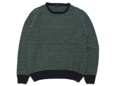 FASSINA LUCA【ファッシーナ ルカ】BORDER KNIT *GREEN BASE