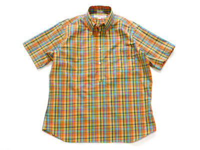 INDIVIDUALIZED SHIRTS【インディビジュアライズドシャツ】POP OVER SHORT SLEEVE SHIRT *YEL/ORN/SKY MULTICHECK