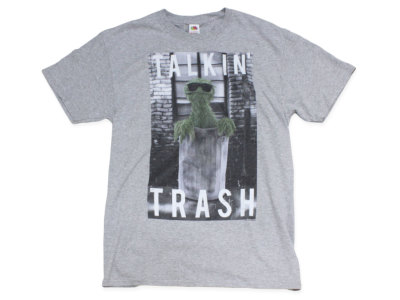 "SESAME STREET【セサミストリート】PRINT TEE ""TALKIN' TRASH"" *H.GRAY"